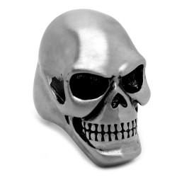 BA0237 BOBIJOO Jewelry Enorme Chevalière Bague Skull Tête de Mort Acier 316L Mat