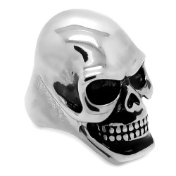 Enorme Chevalière Bague Skull Tête de Mort Acier 316L bobijoo