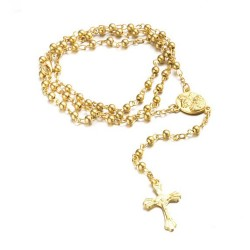 CP0043 BOBIJOO Jewelry Rosary Međugorje Dating Metal Brass Gold