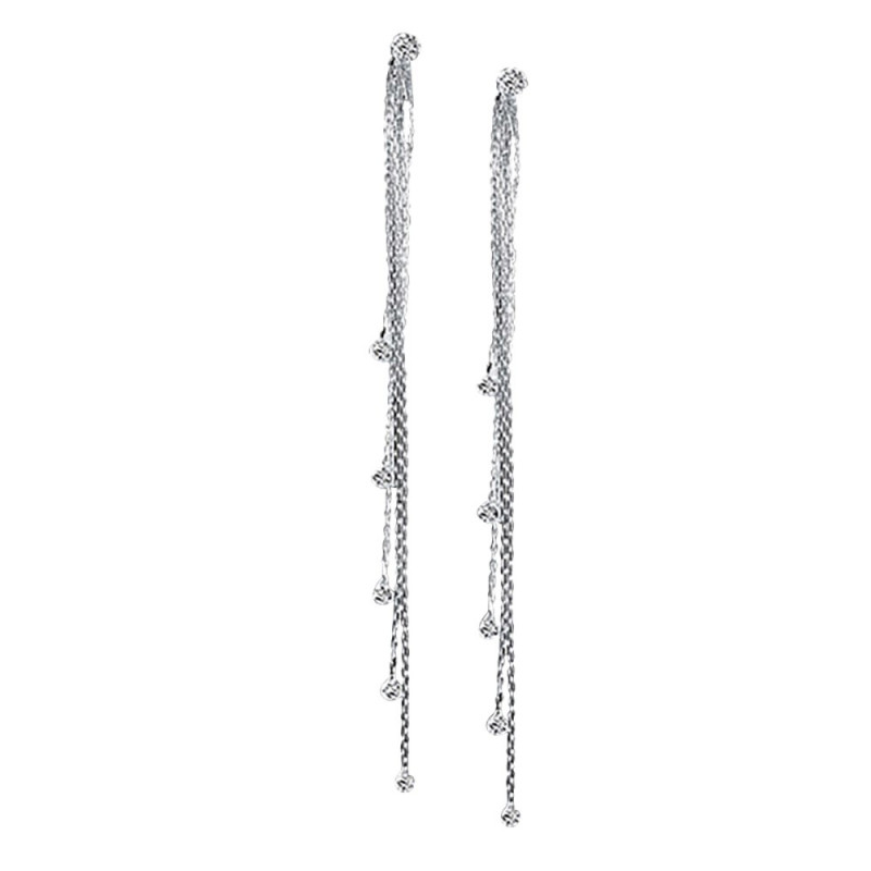 BOF0002 BOBIJOO JEWELRY Earrings Water Drop Silver plated