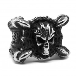 BA0250 BOBIJOO Jewelry Big Signet Ring Biker Claw Dragon Chain Motorcycle
