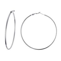 BOF0095 BOBIJOO JEWELRY Grandi orecchini Anelli orecchini a cerchio in Acciaio