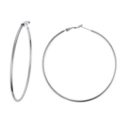 Large earrings Rings hoop earrings Steel