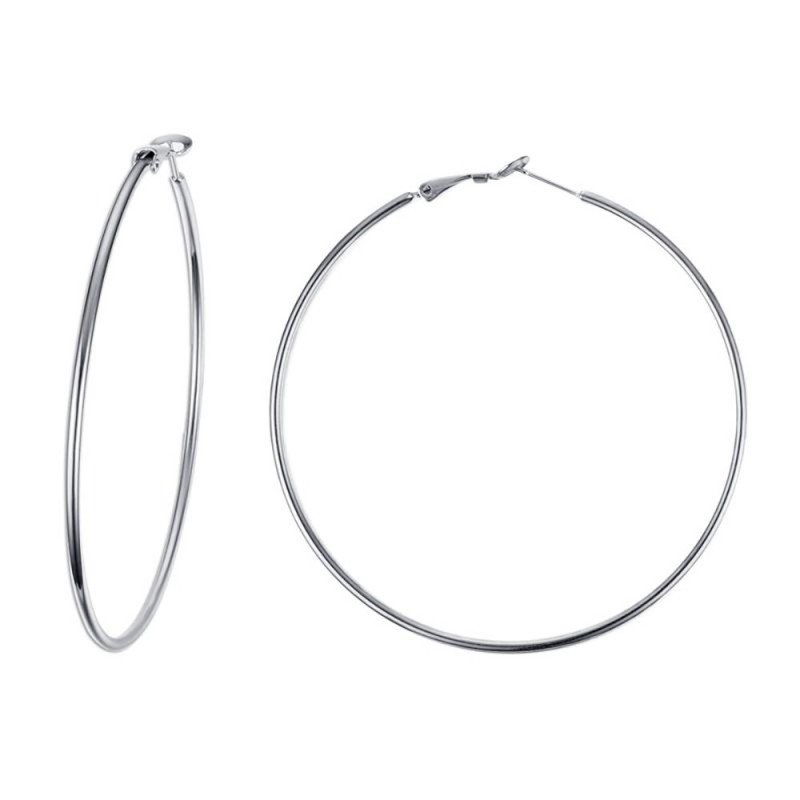 BOF0095 BOBIJOO JEWELRY Large earrings Rings hoop earrings Steel