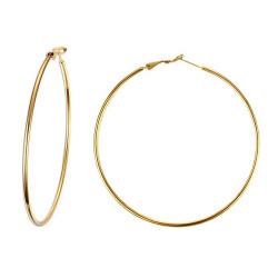 BOF0096 BOBIJOO JEWELRY Grandi orecchini Anello orecchini a cerchio in Acciaio inox Oro