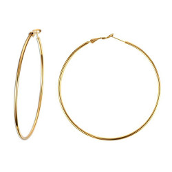 BOF0096 BOBIJOO JEWELRY Large earrings Ring hoop earrings stainless Steel Gold