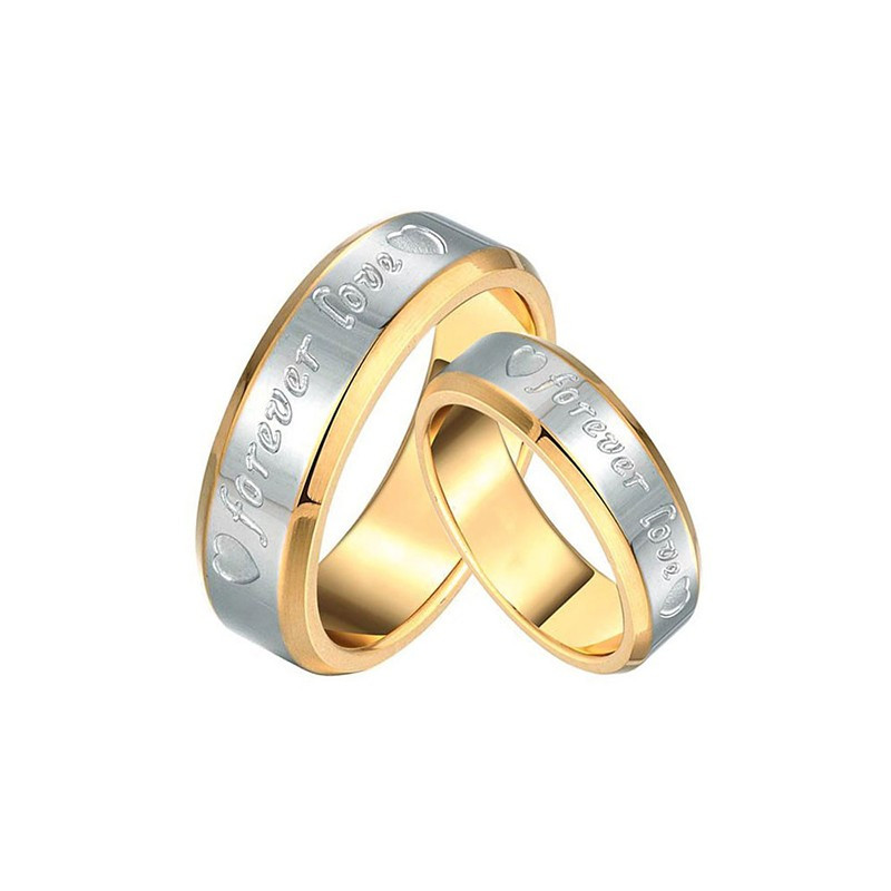 AL0024 BOBIJOO Jewelry Alleanza Anello Per Sempre Amore Uomo Donna, Oro