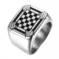 BA0248 BOBIJOO Jewelry Anillo Anillo Anillo De La Almohadilla De Mosaico Adorno Rito Francés
