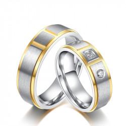AL0026 BOBIJOO Jewelry Alianza Anillo, Diseño Cúbico De Acero Inoxidable
