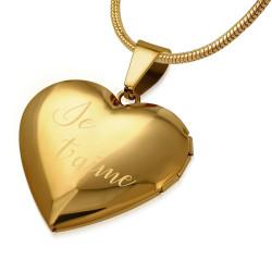 PEF0042 BOBIJOO Jewelry Colgante Corazón en la Puerta de la Foto Elección de Acero + Cadena