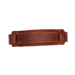 BR0072 BOBIJOO Jewelry Bracelet of Strength Brown Leather Single Strap Small