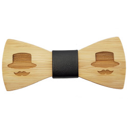 NP0040 BOBIJOO Jewelry Node Butterfly Wood Bamboo Mustache Hat