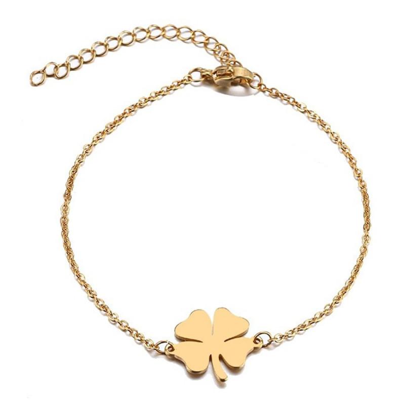 BR0263 BOBIJOO Jewelry Armband Minimalistischen Frau Stahl Vergoldet zur Auswahl