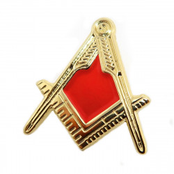 PIN0025 BOBIJOO Jewelry Pin Frank Mason Bracket Compass Red Gold Email