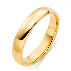 AL0060 BOBIJOO Jewelry Anillo Alianza Conjunta Inoxidable Chapado en Oro de Acero de 4 mm