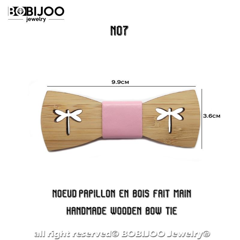 Regolabile BOBIJOO Jewelry N07 Animale Scelta Fatta A Mano In Pelle Papillon In Legno Naturale Di Bamb/ù Uomo-Bambino