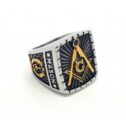 Signer Ring Masonic Blue