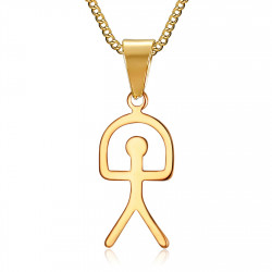 PE0183 BOBIJOO Jewelry Pendentif Indalo Porte-Bonheur Chance Symbole Espagne