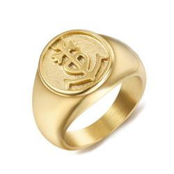 BA0303 BOBIJOO Jewelry Anello anello Uomo Donna Croce della Camargue Oro
