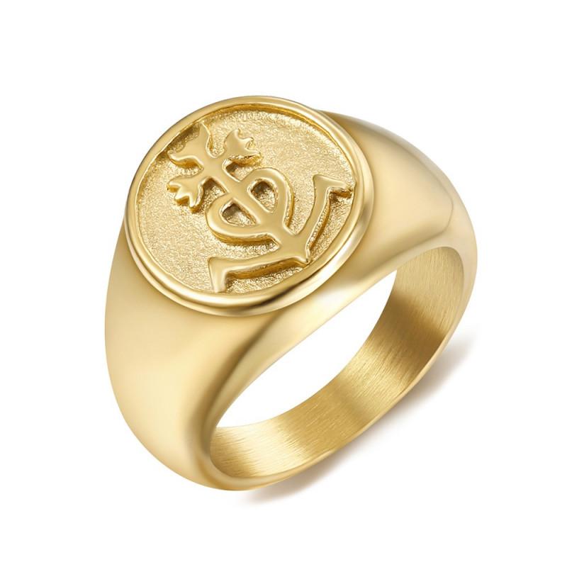 BA0303 BOBIJOO Jewelry Anillo Anillo anillo de Hombre Mujer de la Cruz de la Camarga de Oro