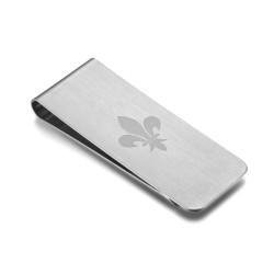 PB0014S BOBIJOO Jewelry Money clip Stainless Steel Brushed Pattern Choice