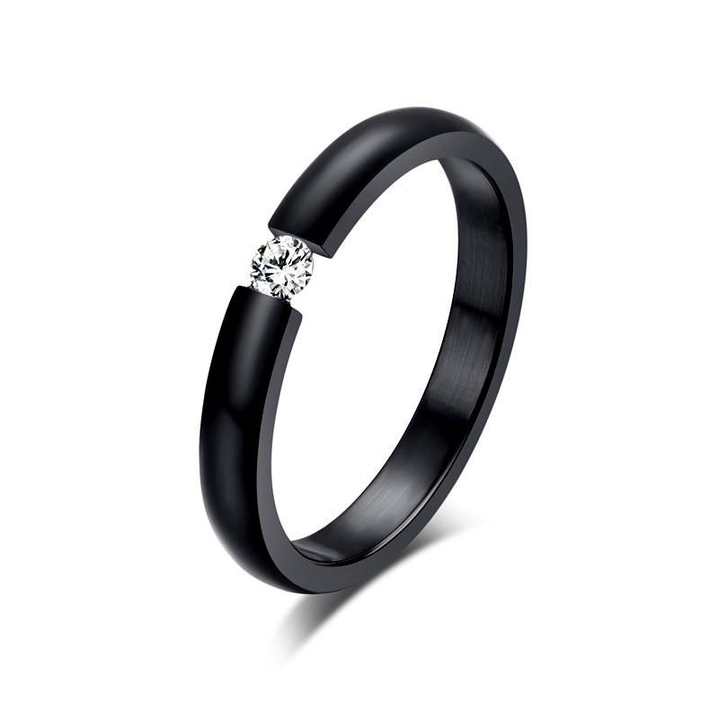 SOL0003 BOBIJOO Jewelry Solitaire ring Silber Zirkon 6mm 6 krallen