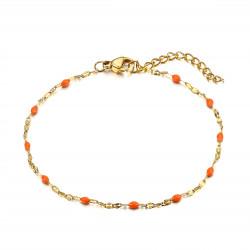 Bracelet Minimaliste Acier Or Email Couleur au Choix bobijoo