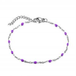 BR0272S BOBIJOO Jewelry Armband Minimalistischen Stahl-Email Farbe zur Auswahl