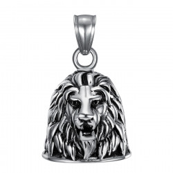 MOT0006 BOBIJOO Jewelry Bell brings good luck Motorcycle 316L Steel lion Head