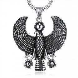 PE0214 BOBIJOO Jewelry Ciondolo Horus Falco rapace, Divinità, egitto Acciaio