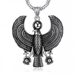PE0214 BOBIJOO Jewelry Pendant Horus Falcon bird of Prey Deity egypt Steel