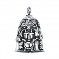 MOT0016 BOBIJOO Jewelry Good Luck Steel Motorcycle Biker Triker Dog Mad Dog