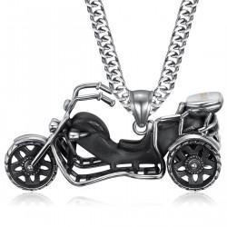 PE0219 BOBIJOO Jewelry Collana con pendente a Triker Biker Acciaio 316L Catena