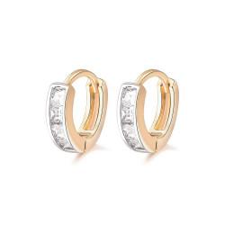 BOE0003 BOBIJOO Jewelry Boucles d'Oreilles Doré à l'Or Fin Enfant Bébé Fille Strass
