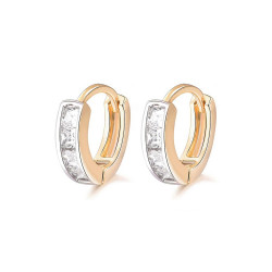 BOE0003 BOBIJOO Jewelry Earrings, Gold Children Baby Girl Rhinestone