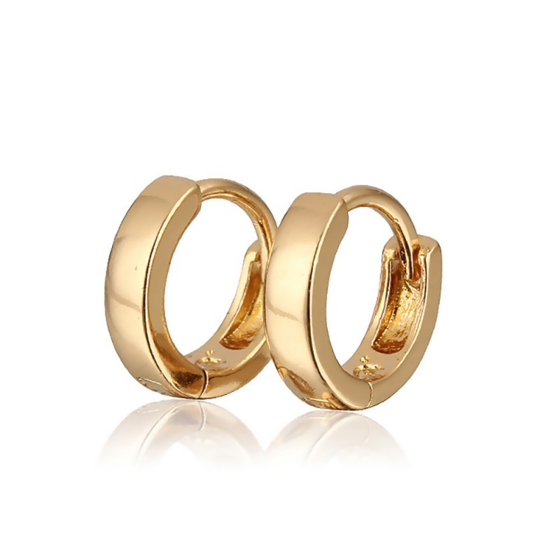 BOE0001 BOBIJOO Jewelry Earrings, Gold Children Girl Baby hoop earrings