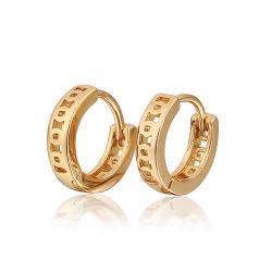 BOE0002 BOBIJOO Jewelry Pendientes Calados Infantil Niña Dorados con Oro Fino