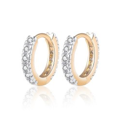 BOE0010 BOBIJOO Jewelry Aretes De Oro Del Niño De La Muchacha De Las Mujeres De Diamantes De Imitación