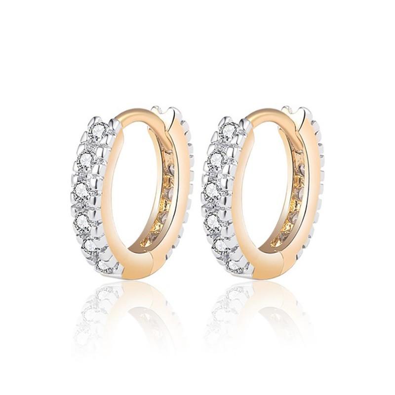 BOE0010 BOBIJOO Jewelry Ohrringe Vergoldet Gold Ende Mädchen Kind Frau Strass