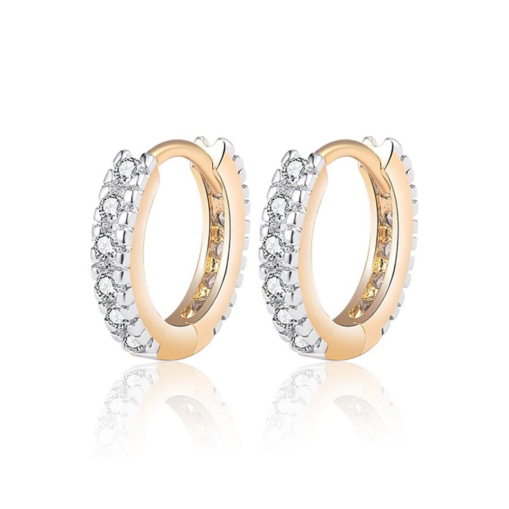 BOBIJOO Jewelry Boucles dOreilles Femme Fille Enfant Or Dor/é Plaqu/é Strass Faux Diamants 15mm Cr/éoles