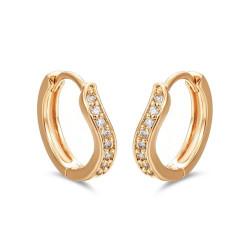 BOE0011 BOBIJOO Jewelry Orecchini Curvo Oro Bambino Ragazza Donna Strass