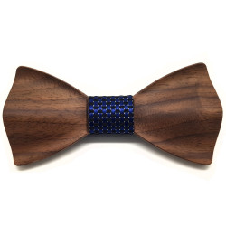 NP0050 BOBIJOO Jewelry Bow tie of Natural Wood 3D Trendy Trend
