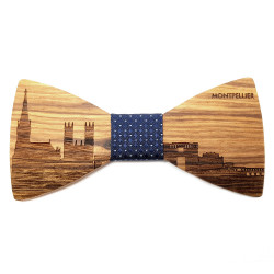 NP0055 Gaston et Ferdinand Bow Tie Wood French City In France