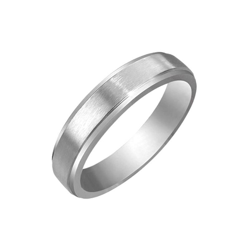 AL0029 BOBIJOO Jewelry Alliance-Ring, Frau, Mann, Edelstahl Gebürstet