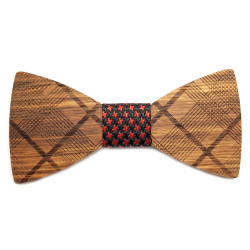 NP0056 Gaston et Ferdinand Bow Tie Wood Geometry Stripes