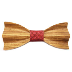 NP0058 Gaston et Ferdinand Bow tie 3D Wood Olivier Provence South