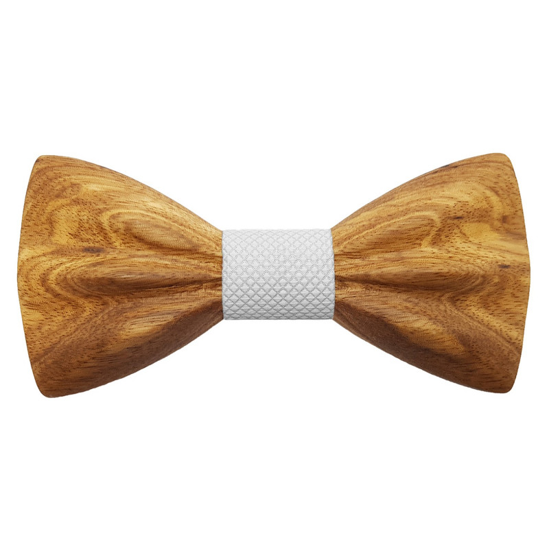 NP0063 Gaston et Ferdinand Bow tie Classic Wooden and 3D Zébrano