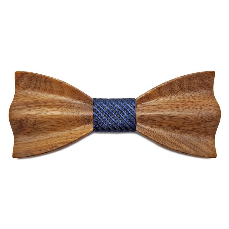 NP0060 Gaston et Ferdinand Bow tie Dark Wood Original 3D