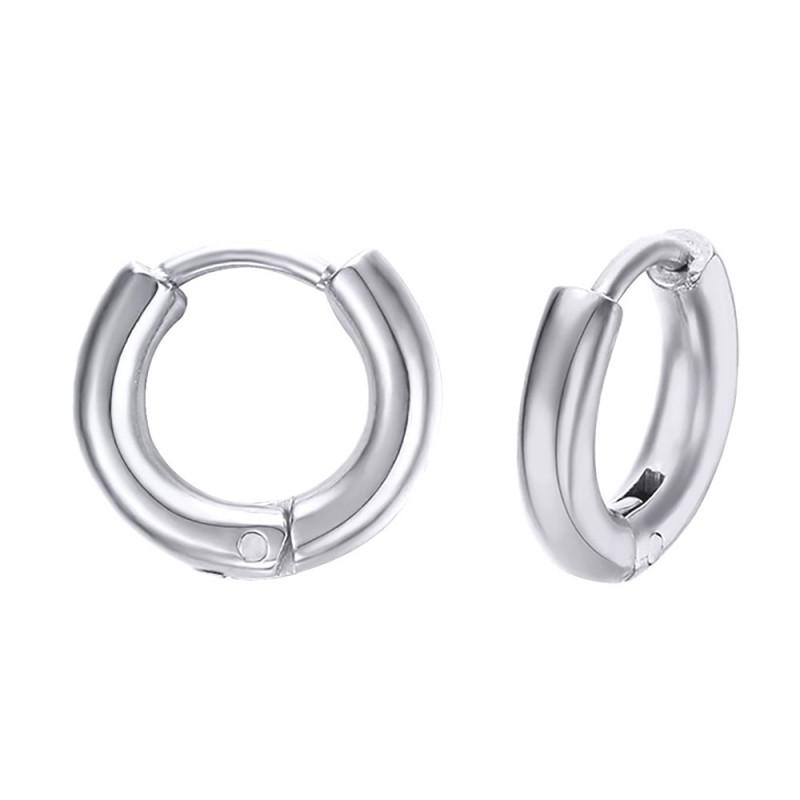 BOH0004 BOBIJOO Jewelry Paar Ohrringe Mann Creolen Edelstahl 12mm 2mm
