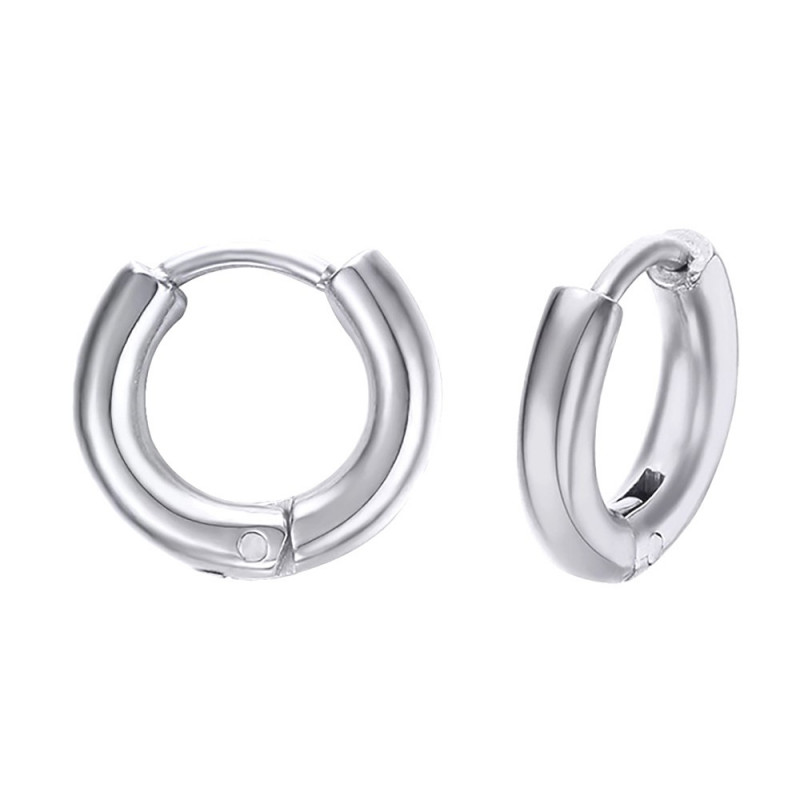 BOH0004 BOBIJOO Jewelry Pair earrings Man Creoles Steel 12mm 2mm
